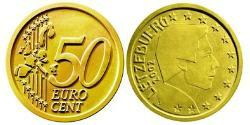 50 Eurocent Luxembourg Tin/Aluminium/Copper/Zinc