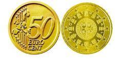 50 Eurocent Portuguese Republic (1975 - ) Tin/Aluminium/Copper/Zinc