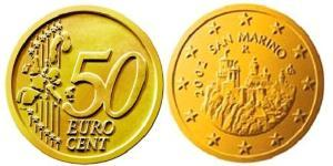 50 Eurocent San Marino Tin/Aluminium/Copper/Zinc