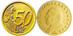 50 Eurocent Vatican (1926-) Tin/Aluminium/Copper/Zinc John Paul II (1920 - 2005)