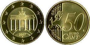 50 Eurocent Repubblica Federale di Germania (1990 - ) Tin/Rame/Alluminio/Zinco