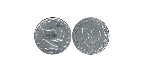 50 Filler Hongrie (1989 - ) Aluminium