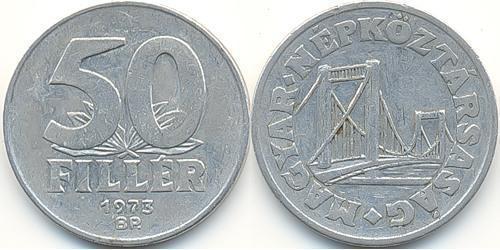 50 Filler République populaire de Hongrie (1949 - 1989) Aluminium