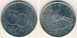 50 Forint Hungría (1989 - ) Níquel/Latón