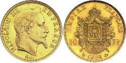 50 Franc 法蘭西第二帝國 (1852 - 1870) 金 拿破仑三世