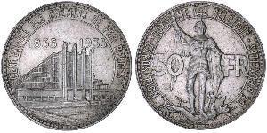 50 Franc Belgique Argent