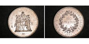 50 Franc Cinquième République (1958 - ) Argent