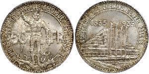 50 Franc Belgio Argento