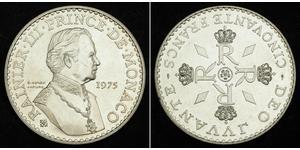 50 Franc Principato di Monaco Argento Ranieri III di Monaco