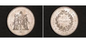 50 Franc Quinta Repubblica francese (1958 - ) Argento