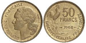 50 Franc French Fourth Republic (1946-1958) Bronze/Aluminium