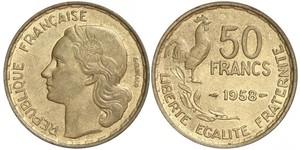 50 Franc French Fourth Republic (1946-1958) Bronze/Aluminium
