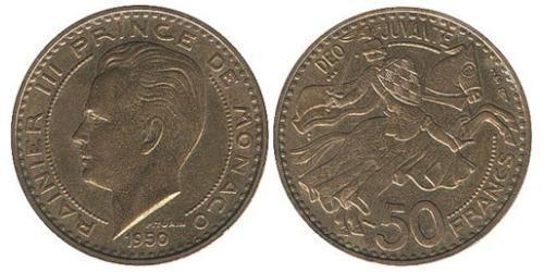 50 Franc Monaco Bronze/Aluminium