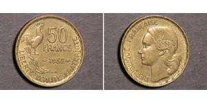 50 Franc Vierte Französische Republik (1946-1958) Bronze/Aluminium