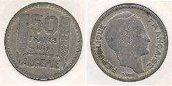 50 Franc Algeria Copper/Nickel