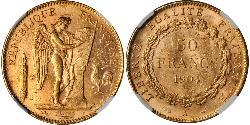 50 Franc French Third Republic (1870-1940)  Gold