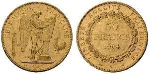 50 Franc French Third Republic (1870-1940)  Gold