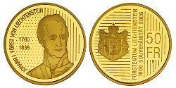 50 Franc Liechtenstein Gold