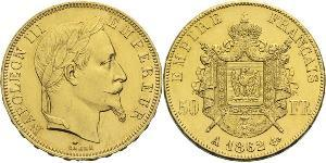 50 Franc Second French Empire (1852-1870) Gold Napoleon III (1808-1873)