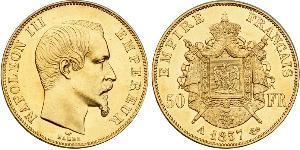 50 Franc Zweites Kaiserreich (1852-1870) Gold Napoleon III (1808-1873)