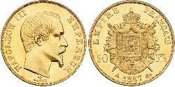 50 Franc Second Empire (1852-1870) Or Napoleon III (1808-1873)