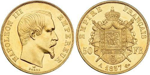 50 Franc Second Empire (1852-1870) Or Napoleon III (1808-1873)