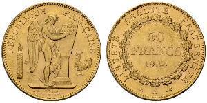 50 Franc Troisième République (1870-1940)  Or