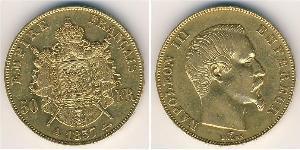 50 Franc Secondo Impero francese (1852-1870) Oro Napoleone III (1808-1873)