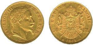 50 Franc Segundo Imperio francés (1852-1870) Oro Napoleon III (1808-1873)