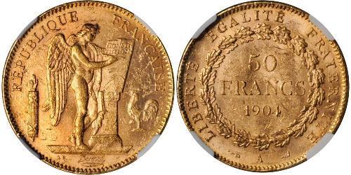 50 Franc Terza Repubblica francese (1870-1940)  Oro