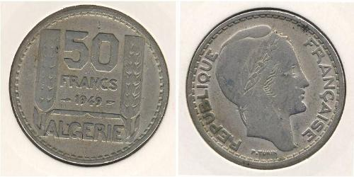 50 Franc Algeria Rame/Nichel