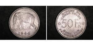 50 Franc Belgian Congo (1908 - 1960) Silver