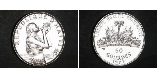 50 Gourde Haiti Argento
