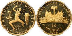 50 Gourde Haití Oro