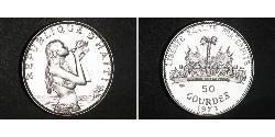 50 Gourde Haiti Silber