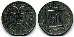 50 Grosh Federal State of Austria (1934-1938) Copper/Nickel