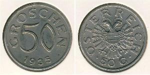 50 Grosh Federal State of Austria (1934-1938) Cuivre/Nickel
