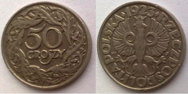 50 Grosh Seconda Repubblica Polacca (1918 - 1939) Nichel
