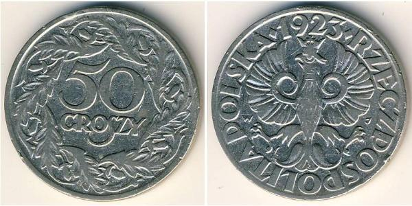 50 Grosh Deuxième République de Pologne (1918 - 1939) Nickel
