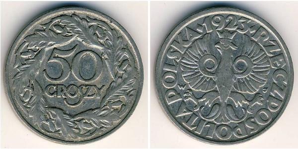 50 Grosh Second Polish Republic (1918 - 1939) Nickel