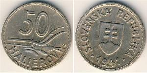 50 Heller Slowakei Kupfer/Nickel