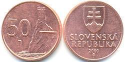 50 Heller Slovakia Steel/Copper