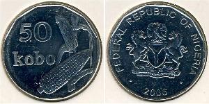 50 Kobo Нигерия Никель/Сталь