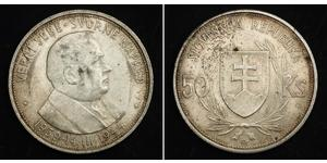 50 Krone Slovaquie Argent