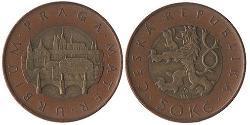 50 Krone Tschechien Bimetall