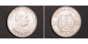 50 Krone Eslovaquia Plata