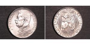 50 Krone Tschechoslowakei  (1918-1992) Silber