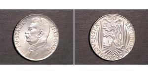 50 Krone Czechoslovakia (1918-1992) Silver