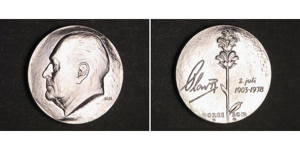 50 Krone Kingdom of Norway (1905 - ) Silver Olav V of Norway (1903 - 1991)