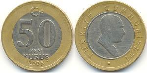 50 Kurush Turkey (1923 - ) Bimetal